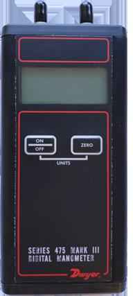 Цифровой дифференциальный манометр Серия 475-FM Mark 3