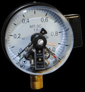 Электроконтактные манометры МТ-3С (диаметр 100мм)