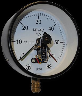 Электроконтактные манометры МТ-4С (диаметр 150мм, 160мм)
