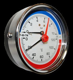 Термоманометры МТ-80-ТМ (осевые)