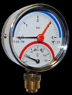 Термоманометры МТ-80-ТМ (радиальные)