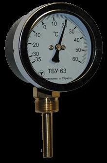 Термометры ТБУ-63 (радиальные)