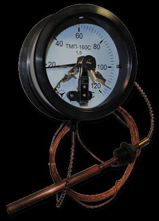 Термометр манометрический ТМП-160С, диаметр 160мм.(сигнализирующий)