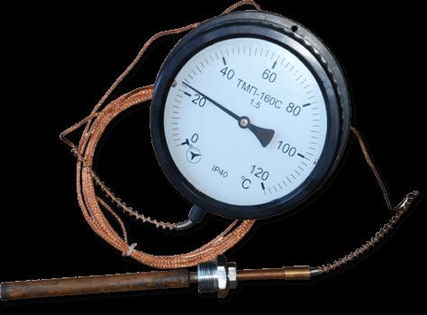 Термометр манометрический ТМП-160, диаметр 160мм.(показывающий)