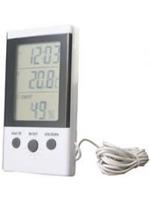 Термометр-гигрометр с возможностью измерения температуры в двух точках с часами DT-2