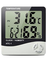 Термометр-гигрометр с часами, будильником и календарем НТС-1