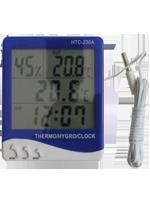 Термометр-гигрометр с выносным датчиком, с часами и будильником НТС-230А
