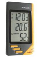 Термометр-гигрометр с часами и будильником НТС-330
