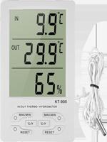 Термометр-гигрометр с выносным датчиком КТ-905