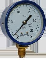 Манометры МТ-2У, радиальный штуцер, кислородные